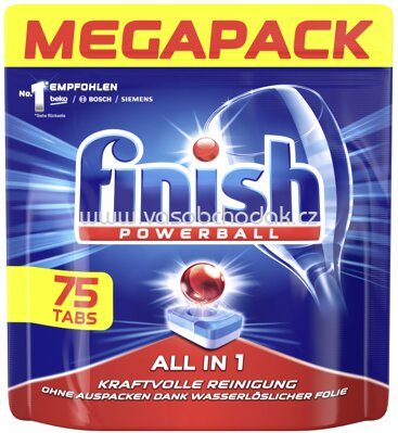 Finish Megapack Spülmaschinentabs All in 1 Plus, 75 St