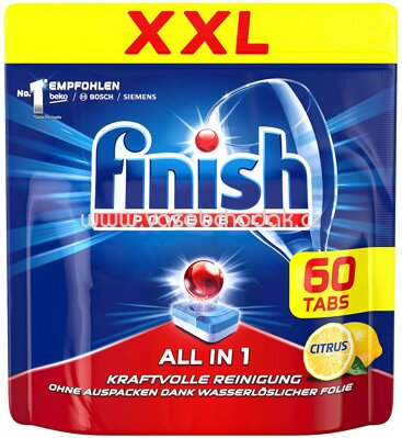 Finish XXL Spülmaschinentabs All in 1 Citrus, 60 St