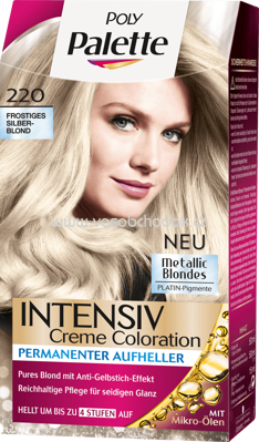Poly Palette Coloration 220 Frostiges Silberblond Metallic Blondes, 1 St