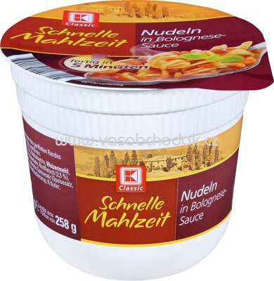 K-Classic Schnelle Mahlzeit Nudeln in Bolognese-Sauce 258g