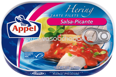 Appel Heringsfilets in Salsa-Picante Sauce, 200g