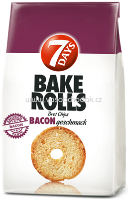 7 Days Bake Rolls Bacon, 250g