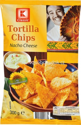 K-Classic Tortilla Chips Nacho Cheese 300g