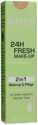 Alterra NATURKOSMETIK 24h Fresh Make-up 02 Medium, 30 ml