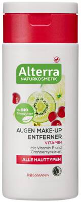Alterra NATURKOSMETIK Augen Make-up Entferner Vitamin, 100 ml