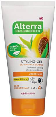 Alterra NATURKOSMETIK Styling-Gel Bio-Papaya & Bambus, 150 ml
