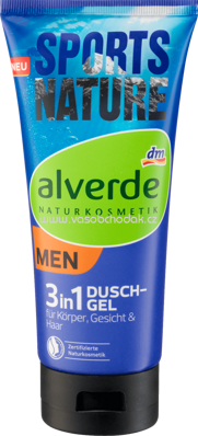 Alverde NATURKOSMETIK Duschgel 3 in 1 Sports Nature, 200 ml