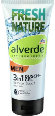 Alverde NATURKOSMETIK Duschgel 3in1 Fresh Nature, 200 ml