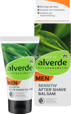 Alverde NATURKOSMETIK After Shave Balsam Sensitiv, 75 ml
