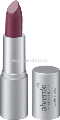 Alverde NATURKOSMETIK Lippenstift Color & Care Dark Plum 30, 4,6 g