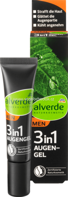 Alverde NATURKOSMETIK MEN Augengel 3in1, 15 ml