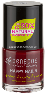 benecos Natural Nagellack Cherry Red, 9 ml