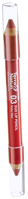 Terra Naturi Duo Lip Pencil 03 Ruby Red, 4,2 g