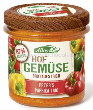 Allos Hofgemüse Peters Paprika Trio 135g