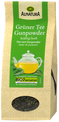 Alnatura Grüner Tee Gunpowder, lose, 100g