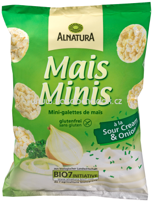 Alnatura Mais-Minis á la Sour Cream & Onion, 50g