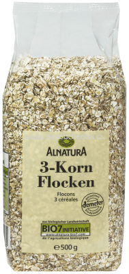 Alnatura 3-Korn-Flocken, 500g