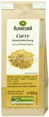 Alnatura Curry Mittelscharf, 60g