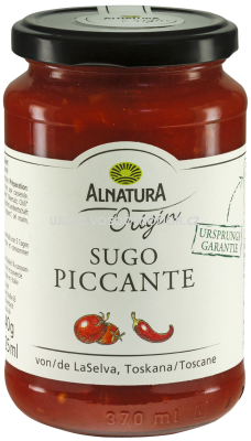 Alnatura Origin Sugo Piccante, 325 ml