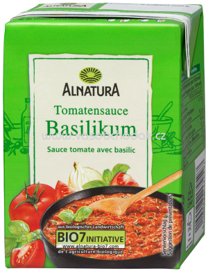 Alnatura Tomatensauce Basilikum Box, 350 ml