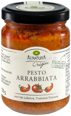 Alnatura Origin Pesto Arrabbiata, 130g
