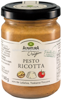 Alnatura Origin Pesto Ricotta, 140g