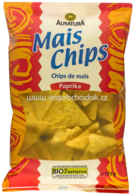 Alnatura Mais Chips Paprika, 125g