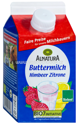 Alnatura Fruchtbuttermilch Himbeer-Zitrone 500 g