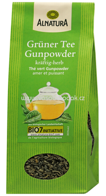 Alnatura Grüner Tee Gunpowder, lose 100 g