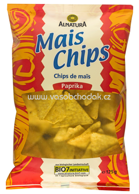 Alnatura Mais Chips Paprika 125 g