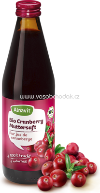 Alnavit Bio Cranberry Muttersaft 330ml