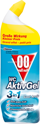 00 WC Reiniger Gel Aktiv 3in1 Cool Arctic, 0,75 l