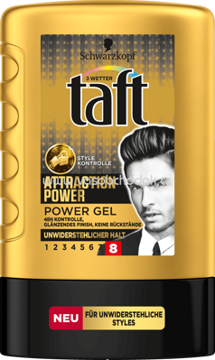 3 wetter taft Attraction Power Gel unwiderstehlicher Halt 8, 300 ml