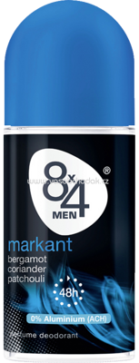 8x4 men Deo Roll On Deodorant Markant Men, 50 ml