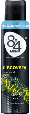 8x4 men Deo Spray Deodorant Discovery, 150 ml