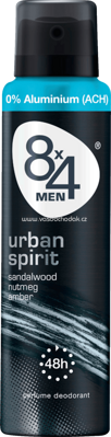 8x4 men Deo Spray Deodorant Urban Spirit, 150 ml