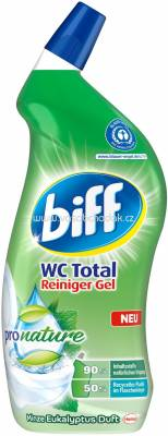 Biff Wc Total Reiniger Gel Pro Nature Minze Eukalyptus Duft, 750 ml