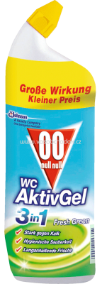 00 WC Reiniger Gel Aktiv 3in1 Fresh Green, 0,75 l