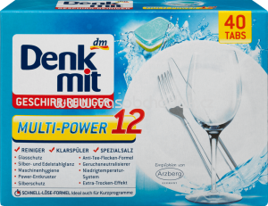 Denkmit Spülmaschinentabs Multi-Power 12, 40 St