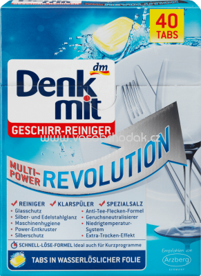 Denkmit Spülmaschinentabs Multi-Power Revolution, 40 St