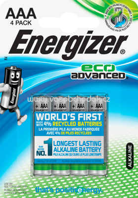 Energizer Batterien Eco Advanced Micro AAA Alkali-Mangan, 4 St