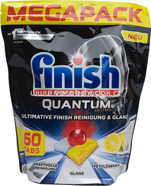 Finish Megapack Spülmaschinentabs Quantum Ultimate Citrus, 60 St