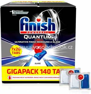 Finish Gigapack Spülmaschinentabs Quantum Ultimate, 7x20 St, 140 St 51 St