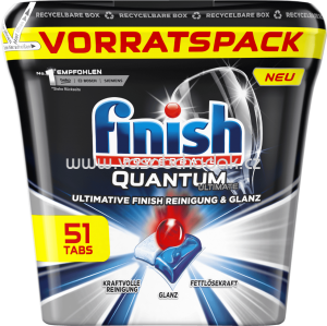 Finish Spülmaschinentabs Quantum Ultimate Vorratspack, 51 St