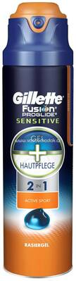 Gillette Fusion ProGlide 2 In 1 Sensitive Active Sport Rasiergel, 170 ml