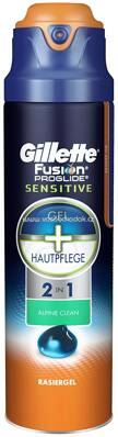 Gillette Fusion ProGlide Sensitive Gel Alpine Clean, 170 ml
