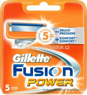 Gillette Fusion Power Rasierklingen, 5 St