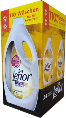 Lenor Color Gel 2in1 Goldene Orchidee, 2x3,025 l, 110 Wl