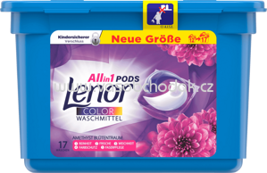Lenor Colorwaschmittel Allin1 PODS Amethyst Blütentraum, 17 Wl