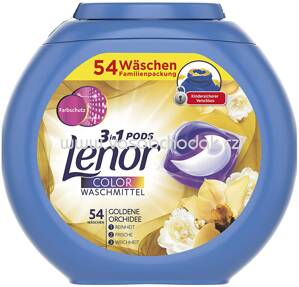 Lenor Colorwaschmittel 3in1 PODS Goldene Orchidee, 54 Wl